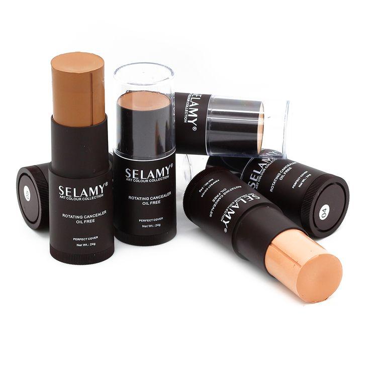 8 warna creamy perfect concealer yayasan tongkat sorot contouring wajah makeup flawless tetap yayasan minyak tahan air gratis