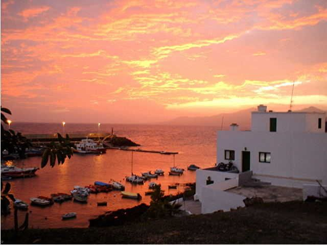 Sunset at Puerto del Carmen, Lanzarote. My favourite holiday ever. I'd live there, if I could.