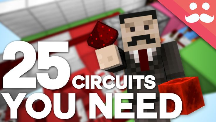 25 Minecraft Redstone Circuits YOU SHOULD KNOW! - Leave a LIKE if you enjoy these slightly longer videos!   Today we take a look at 25 different circuits that you can use inside your redstone builds! This should give you everything you need to take on redstone projects of any size (WITHIN REASON!).  CONTENTS OF THE VIDEO: - CLOCKS - MONOSTABLES - T FLIP FLOPS - PULSE EXTENDERS - LOGIC GATES - RS NOR LATCHES - DOUBLE EXTENDERS - BUD SWITCHES  The Mumbo Merch Store! It's beautiful…