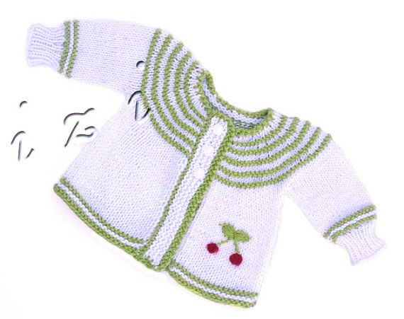 Handknit dress for baby 06month Knit lilac dress by iziknittings