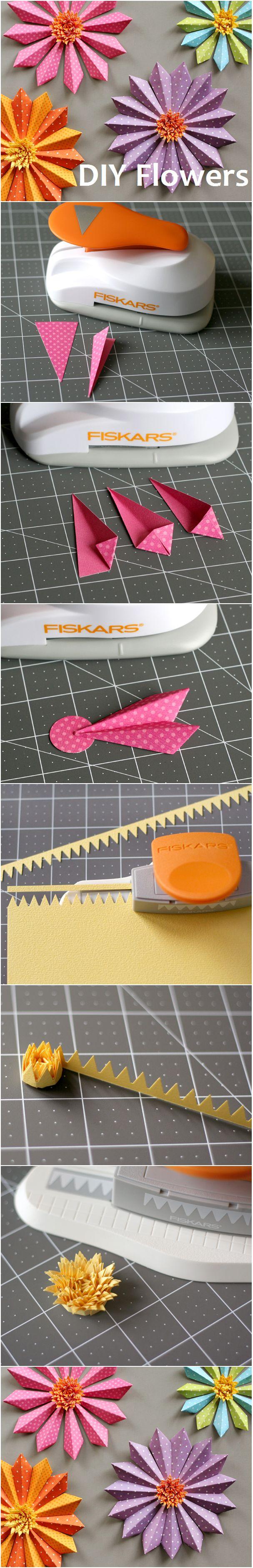 #DIY Paper Flowers Tutorial www2.fiskars.com