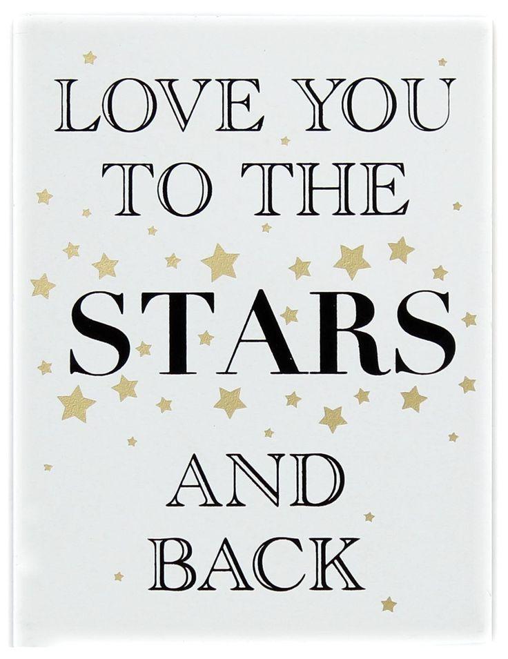 Gold hölzerne Liebe Zeichen Wandbehang Plakette 15cmX20cm ~ liebe dich zu den Sternen