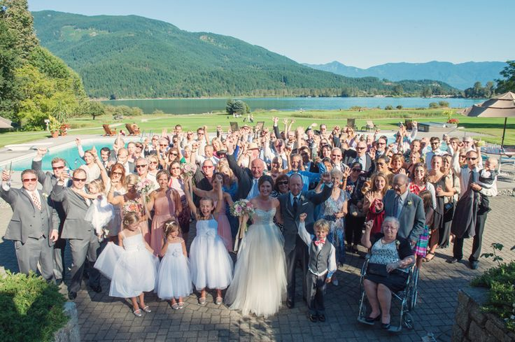 Group photo taken directly after ceremony - just might want bride and groom a bit closer!