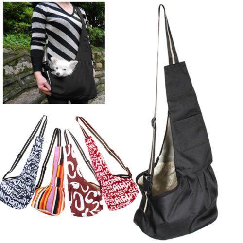 3-Size-SML-Black-Oxford-Cloth-Sling-Pet-Dog-Cat-Carrier-Tote-Single-Shoulder-Bag
