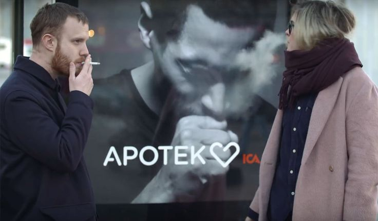 #Innovation: #Swedish #Billboard coughs when it detects #cigarette #smoke. Read the full story at springwise.com/billboard-coug… #health #wellbeing