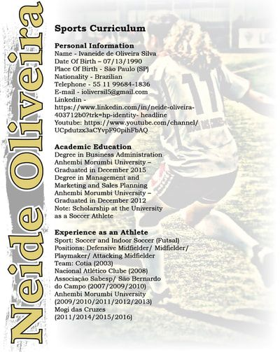 103 best Sports Resumes\/Recruiting Flyers images on Pinterest - soccer player resume