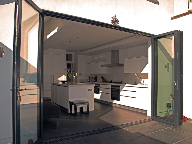 Kitchen with bi folding doors