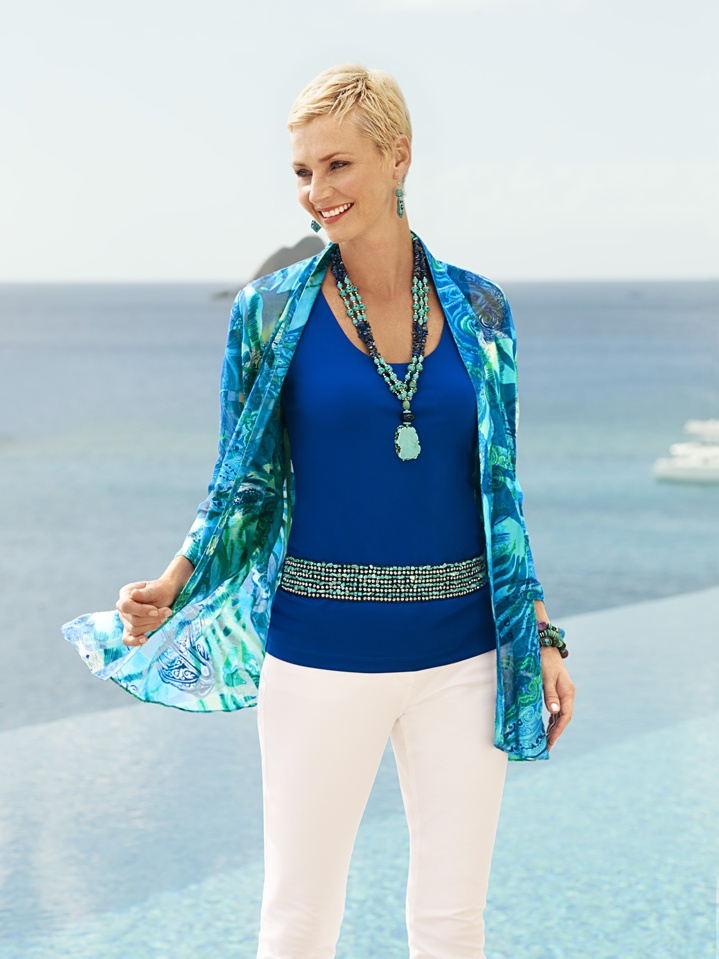 Island Inspired #chicos i COULD SEE YOU WEARING THIS,   PREETTTTY!
