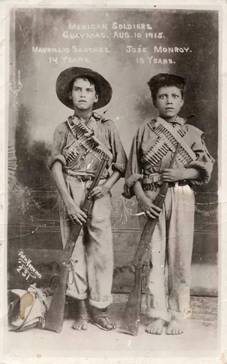 Boy soldiers during the Mexican Revolution, 1915.[449x720]