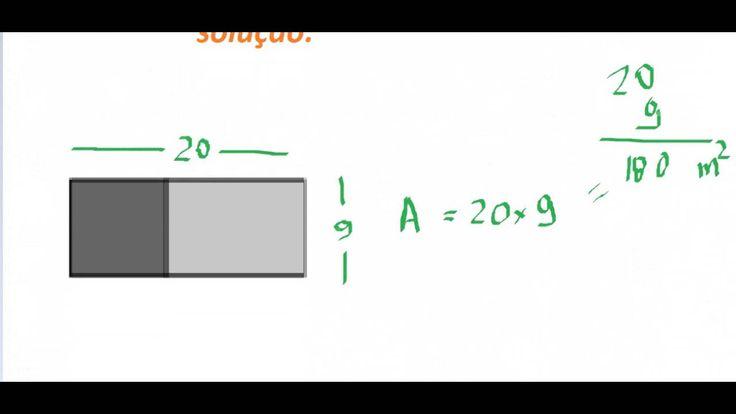 Raciocínio Lógico Matemática RLM Área e perímetro retângulo Figura plana Psicotécnico Detran Concurso Aula https://youtu.be/hmhPgoR-L7Q