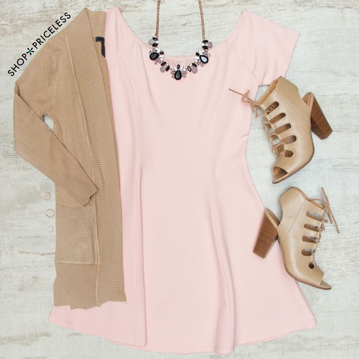 - Details - Size Guide - Model Stats - Contact Don't keep it a secret! This Shaylyn Off The Shoulder Dress in blush deserves to be shared! Features a knit fabric with stretch. Scoop neck front and bac