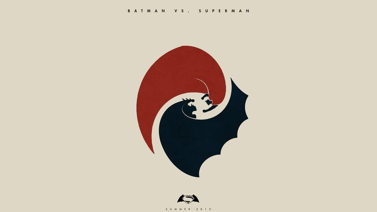 Minimalistic Batman vs Superman HD Wallpaper