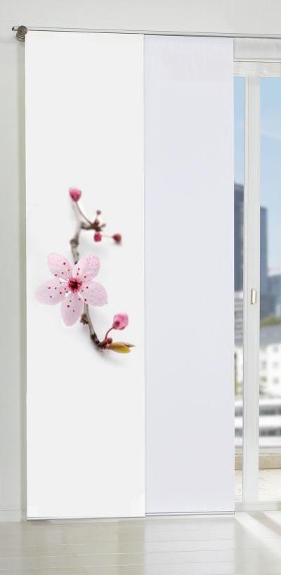 Flächenvorhang Mit Blütendruck