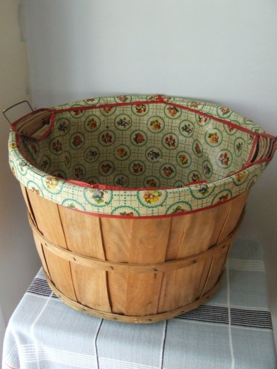 Decorative Laundry Hamper 7 Best Lined Bushel Baskets Images On Pinterest  Bushel Baskets