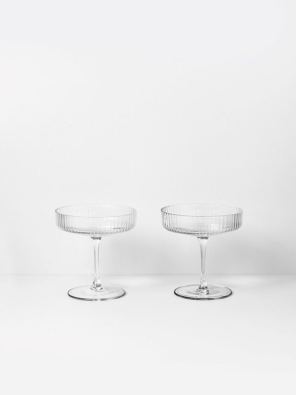 Ripple Champagne Saucers 1