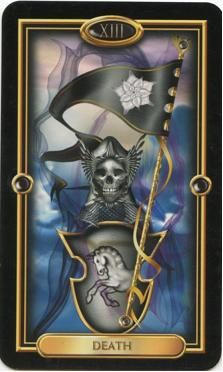tarot death   Death. The Gilded Tarot by Ciro Marchetti. Used by Permission