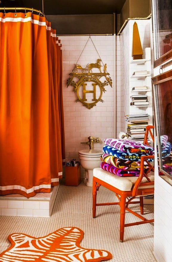 Orange Bathroom Color Trends Decorating With Orange