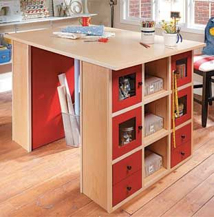 craft center woodworking plans idea for a desk that is big enough for two