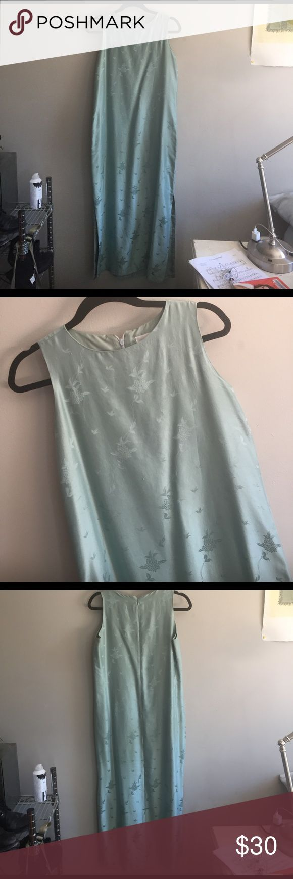 Great Fields are Stretching Silk Maxi Got this is San Francisco and wore it once for a stroll in golden gate park . I was leaving a place and someone I loved . Fits Small or Medium. Small water stain . Anthropologie Dresses Maxi