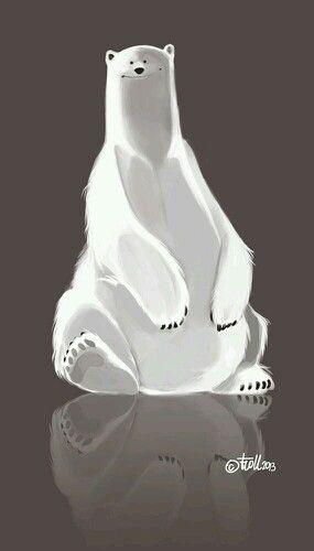 Beautiful polar bear art.