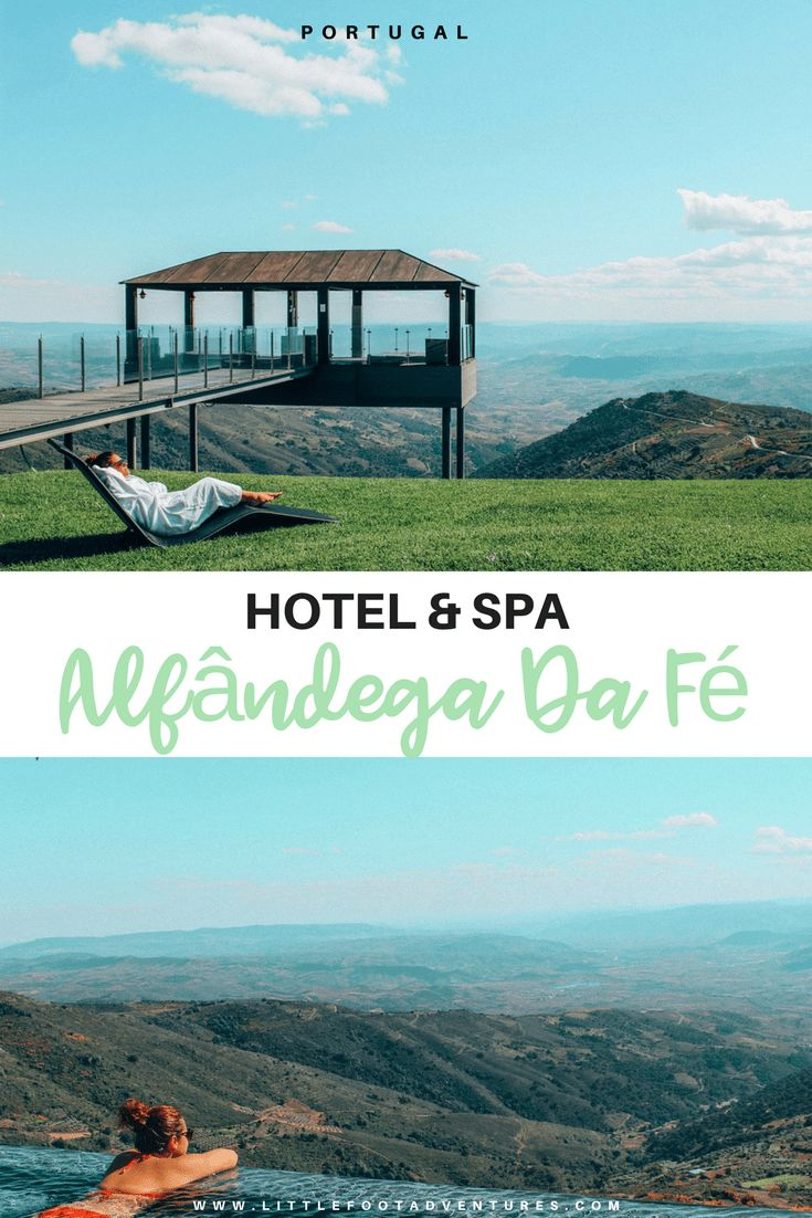 """I could hear the birds, the wind on the fields, the water running in the background and for that time my head was not thinking about anything else, just pure relax.""  The Hotel & Spa Alfândega da Fé, in Portugal, is pure heaven with incredible views where you can relax on a Jacuzzi at 1,100 m altitude.  Portugal 
