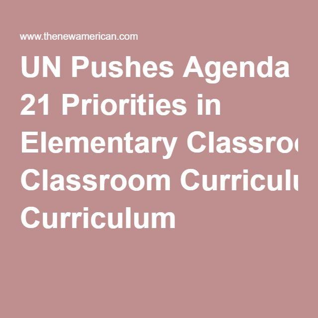 UN Pushes Agenda 21 Priorities in Elementary Classroom Curriculum