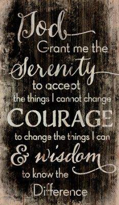 LOVE this serenity prayer wall art - great statement piece for the home