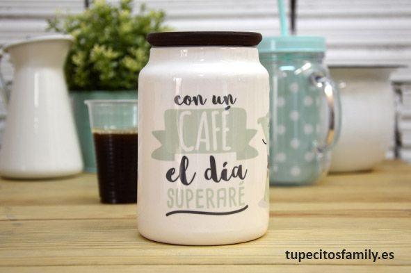 Bote ideal para guardar el café, ya sea molido o en grano. Además de daremos un toque muy chulo a nuestra cocina, que muchas veces la tenemos un poquito sosaina!! #tupecitos #tupecitosfamily