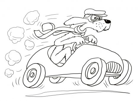 Art/craft: A coloring page of the Go Dog Go book