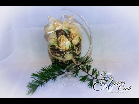Decoupage Tutorial - decoupage on Christmas bauble