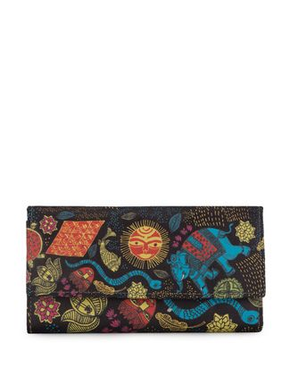 Buy Mad(e) In India Madhubani Painting Print Clutch Online, , LimeRoad