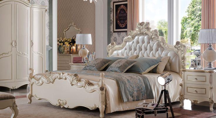 楽天市場】(1800×2000mm以下マットレス対応)プリンセス・お姫様・姫系 ... ロココ調・高級彫刻付きベッド