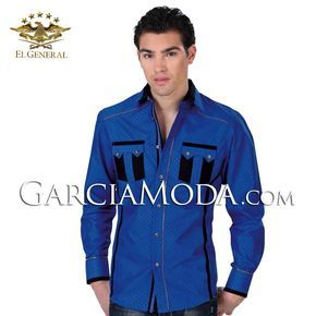 Camisa Vaquera El General Western Wear 32312GM Royal Blue