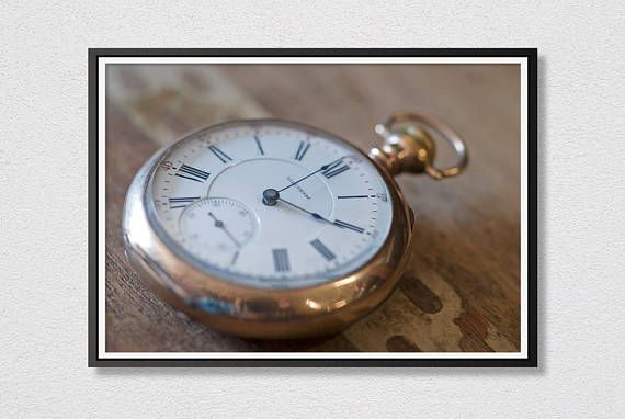 Old Pocket Watch Printable Art  Watch  Photo  Photograph Art