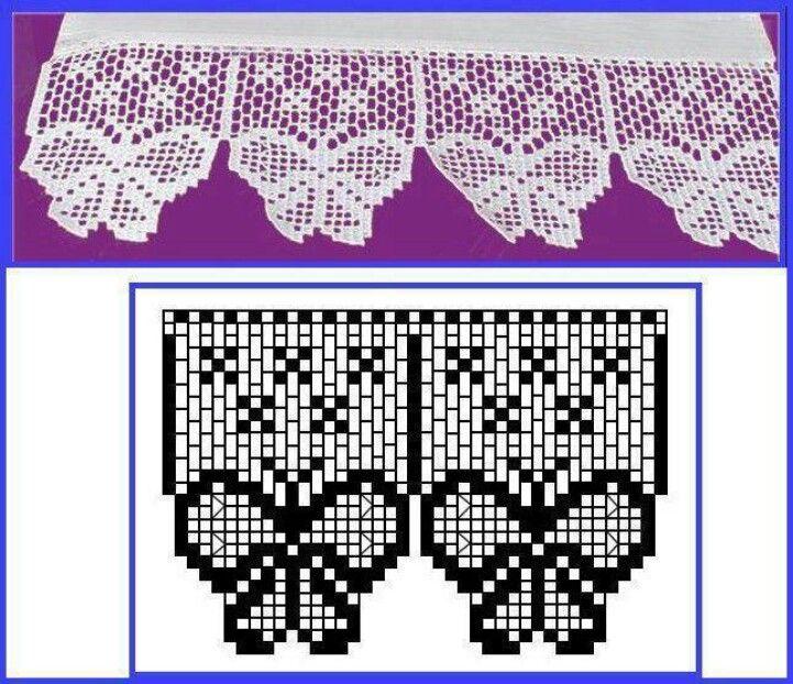 MARIPOSAS TEJIDAS PARA TOALLAS   tejidos a crochet   Pinterest