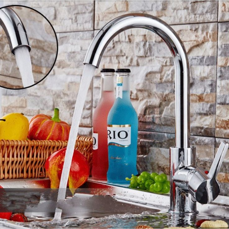 Free shipping,Chrome finish single handle rotatable kitchen faucet sink torneira cold and hot water mixer taps with logo
