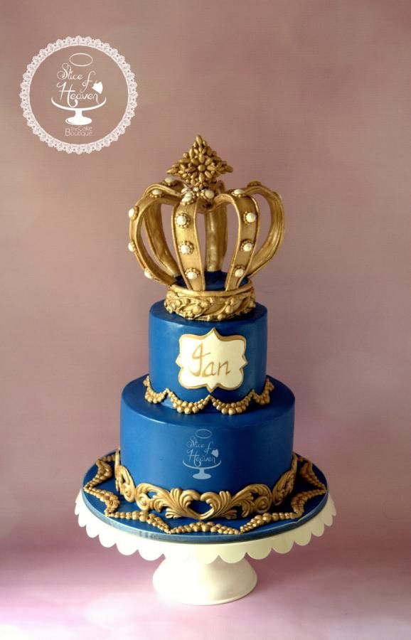 Royal Prince Crown Cake - Cake by Slice of Heaven