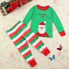 #Banggood Рождество малыш девушки мальчика Санта Рождественские наборы пижамы одежды (952318) #SuperDeals