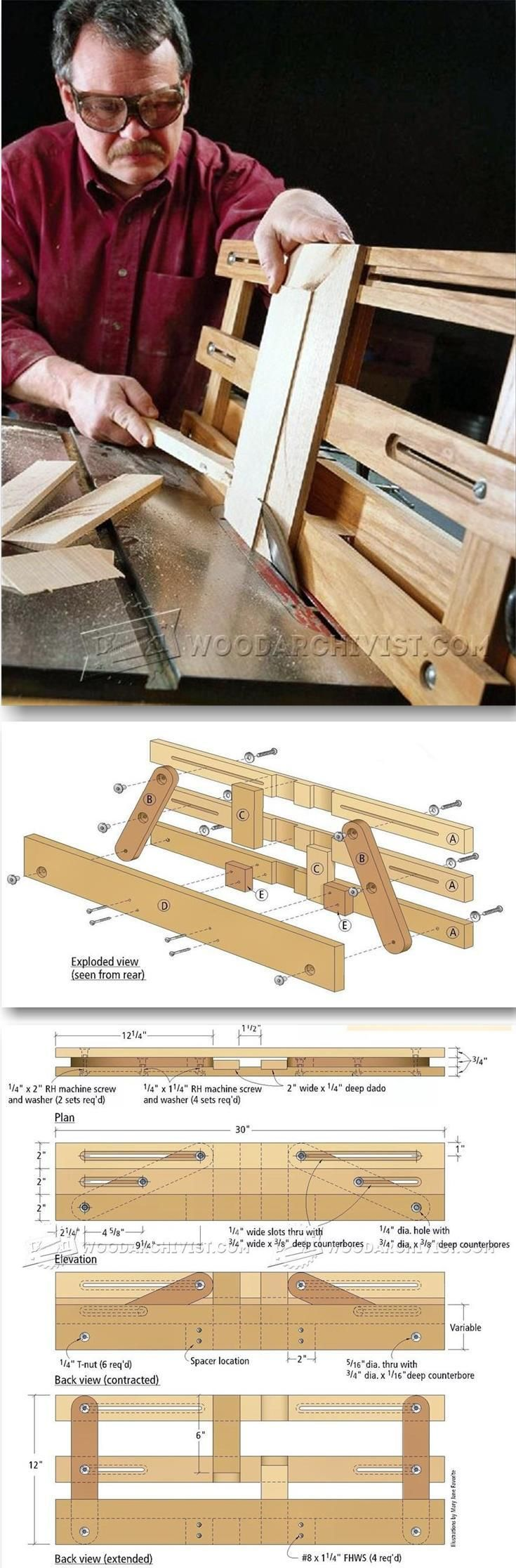 Raised Panel Table Saw Jig - Cabinet Door Construction Techniques - Woodwork, Woodworking, Woodworking Plans, Woodworking Projects