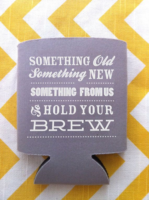 Another take on the wedding koozie!