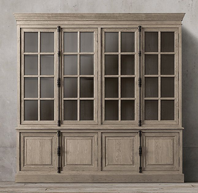 RH's French Casement 4-Door Sideboard & Hutch:Panel doors and fine crown molding give our solid wood collection the gravitas of classic French furniture.