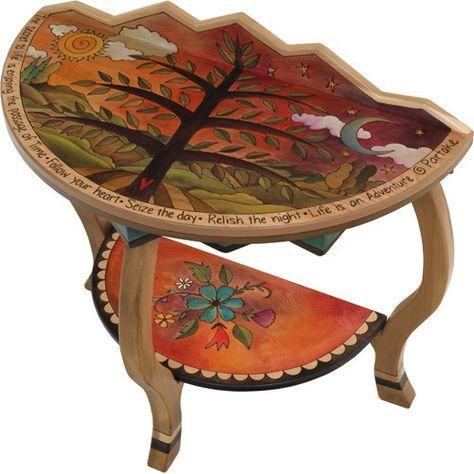 sticks accent half round table hal002 s314209 artistic artisan designer tables