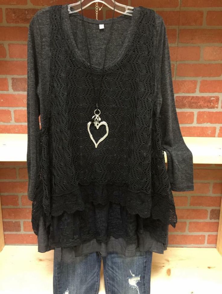 Love this black and charcoal two piece. Carol's Boutique Alabama.