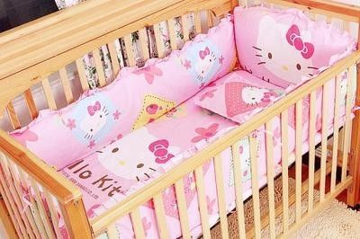 42.80$  Know more - http://aip5j.worlditems.win/all/product.php?id=32522979555 - Promotion! 6PCS baby crib bedding set baby bed linen cartoon cot sheet  ,include(bumper+sheet+pillow cover)