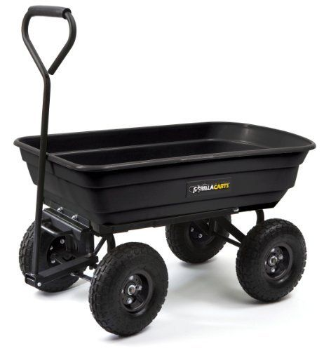 Gorilla Dump Cart rated for 600lbs. My next surf fishing cart!