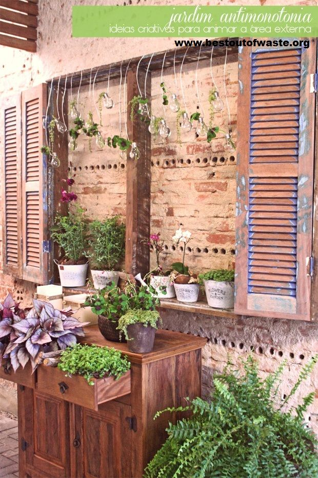 17 best images about garden decoration on pinterest On best out of waste garden ideas