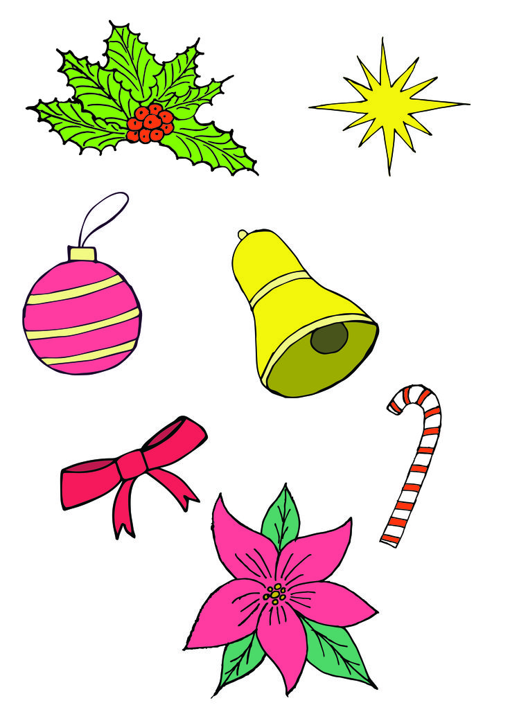 My first hand drawn vector pack. #Christmas #handdrawnvector #lovemywork