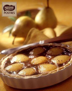 Tarta de peras con crema de café