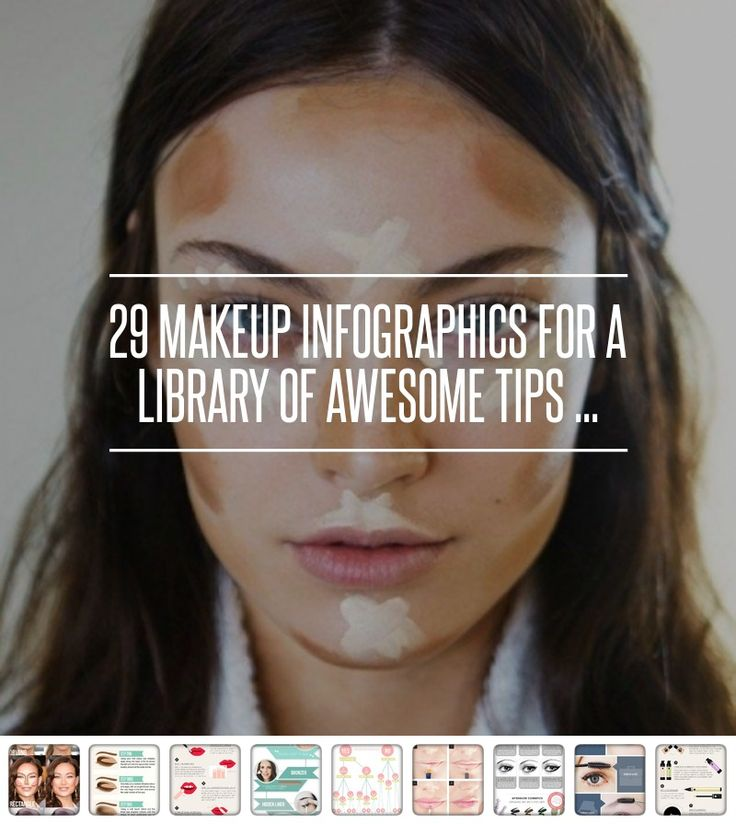 29 #Makeup Infographics for a #Library of Awesome Tips ... → Makeup #Infographics