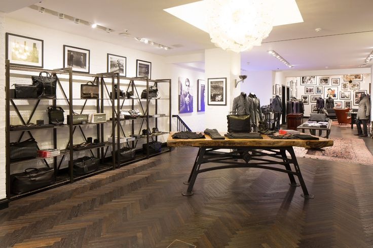 """Ebony Fumed"" Herringbone Parquet and Engineered Planks for John Varvatos store in Conduit Street, W1S"